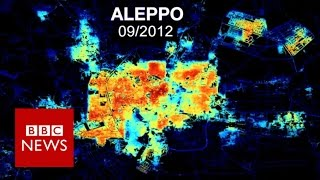 Syria from Space  Aleppo in darkness and light   BBC News