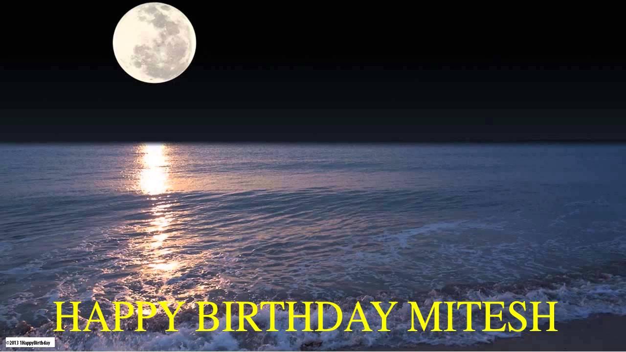 Birthday Cakes With Name Mitesh ~ Mitesh moon la luna happy birthday youtube