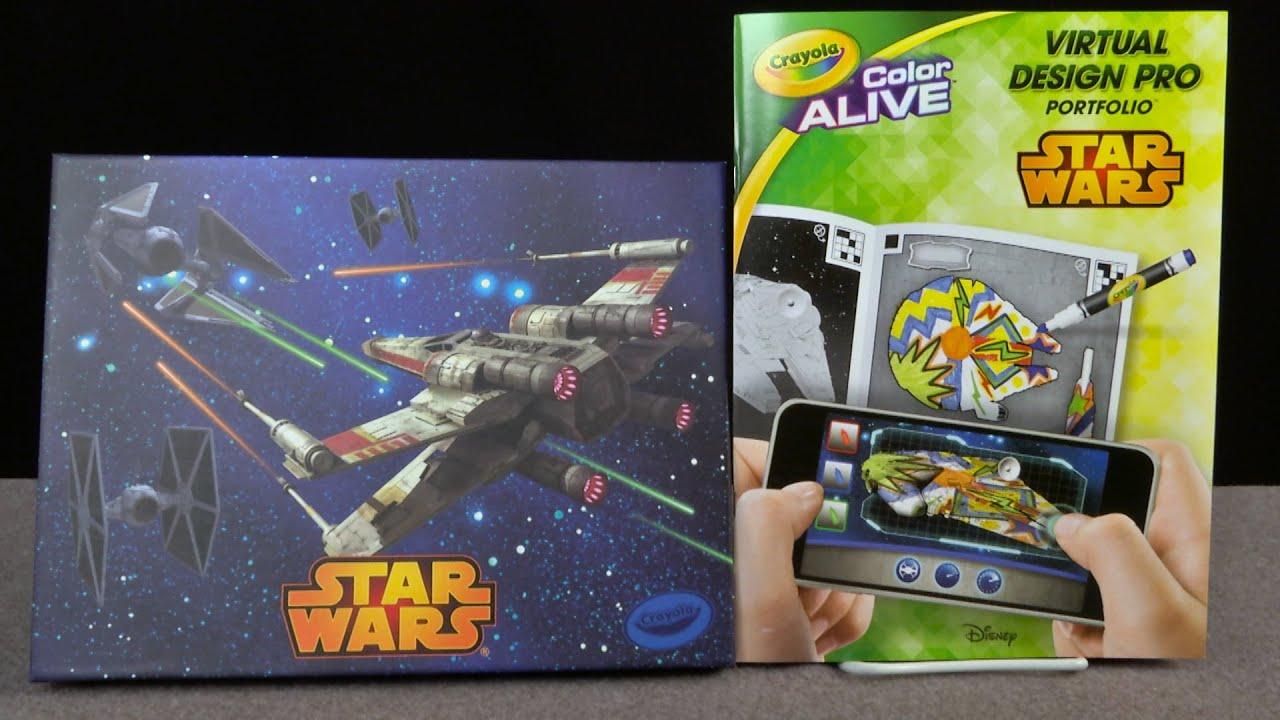 Crayola Color Alive Star Wars Virtual Design Pro Portfolio From Crayola Youtube