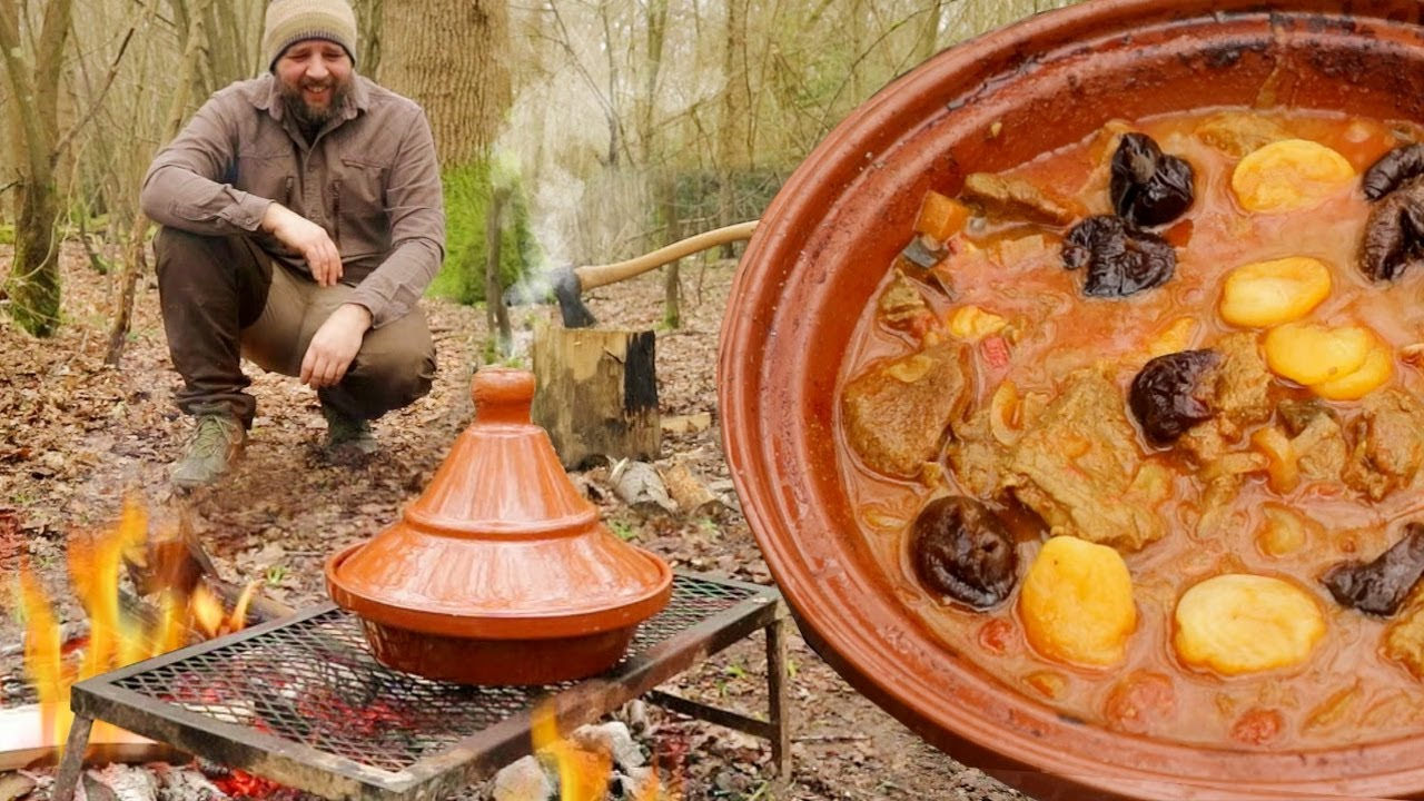 Tagine Cooking - Spiced Lamb Stew on a Camp Fire