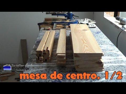C mo hacer una mesa de centro 1 2 youtube for Como hacer una mesa de centro