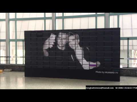 Sign Exhibition Display, Creative billboard, Split flap Display Billboard for HUAWEI P9 Release Conf