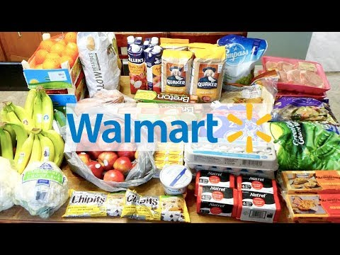 WALMART GROCERY HAUL! | LARGE FAMILY | PRICE MATCH IN CANADA!