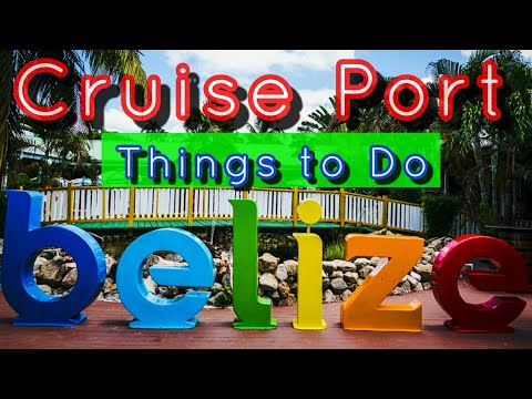Belize City Cruise Port Tour Shopping and Bars on Carnival Freedom