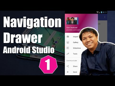 Latest Android Studio Navigation Drawer Tutorial (Part 1) - 2017
