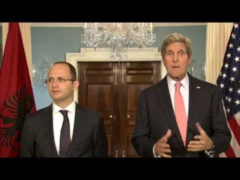 Secretary Kerry Delivers Remarks With Albanian Foreign Minister Bushati