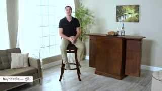 Belham Living Woodward Extra-tall Swivel Bar Stool - Product Review Video