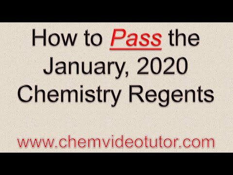 How to Pass the January, 2020 Chemistry Regents - YouTube