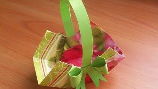 Простые Поделки Своими Руками На Пасху. Пасхальная Корзинка Из Бумаги. Easter Basket(Сделать красивые поделки на Пасху из бумаги очень просто. Например, эта пасхальная корзинка легко и быстро..., 2015-03-26T17:44:13.000Z)