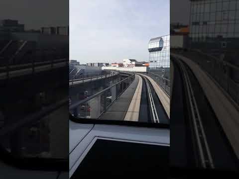 Поезд между терминалами.Аэропорт Франкфурт.
