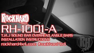 rh 1001 a jeep tj rear overhead angle bars soundbar install instructions by rock hard 4x4