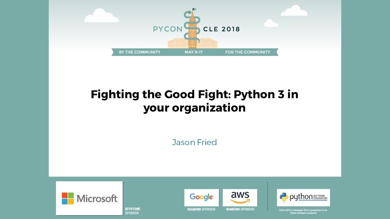 Image from Fighting the Good Fight: Python 3 in your organization
