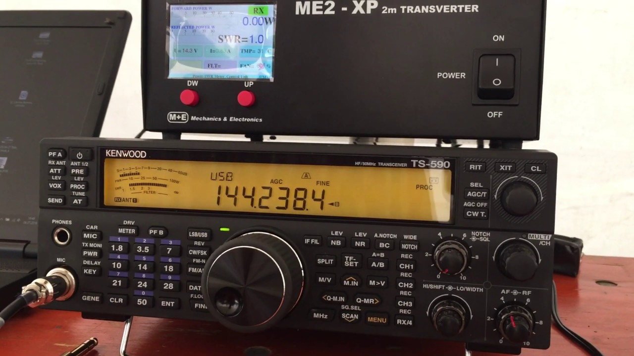 DK0BC Station with TS590SG and HA1YA 2m Transverter ME2-XP