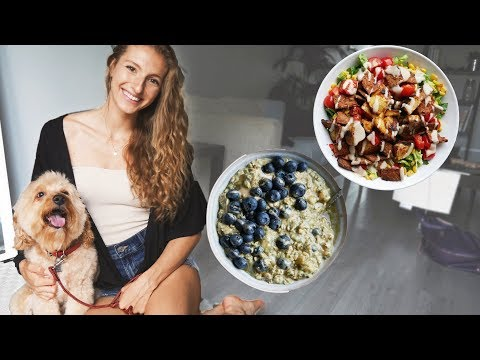 WHAT I EAT IN A DAY with my dog (VEGAN) | Quick & Easy Meals