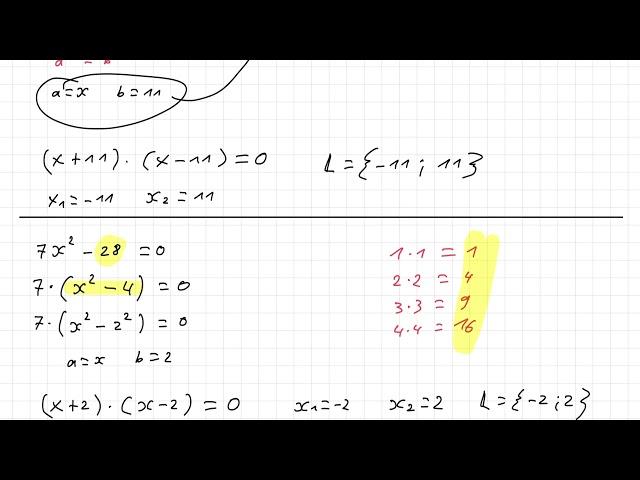 Erklärung zum Aufgabenblock Gleich-003 (Klasse 8)