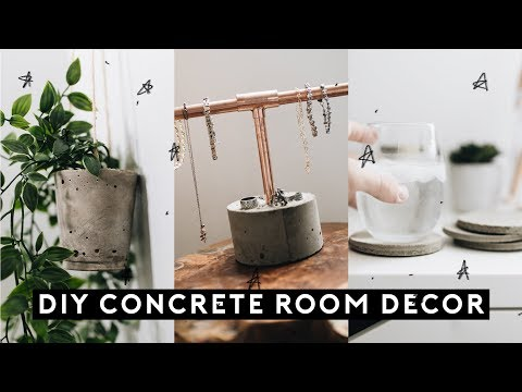DIY CONCRETE ROOM DECOR for $1 (Tumblr Inspired + SUPER EASY) // Lone Fox