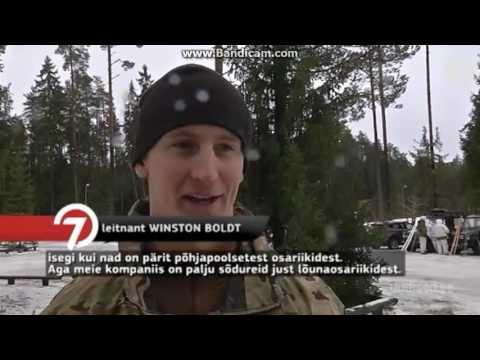 US troops skiing in Estonia