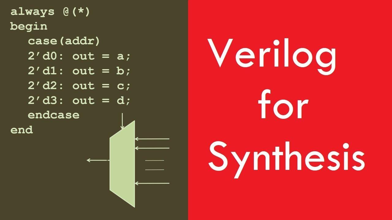 Verilog for Synthesis. Design Examples. Digital System Design 2018 Lec 2/30 [Urdu/Hindi] - YouTube
