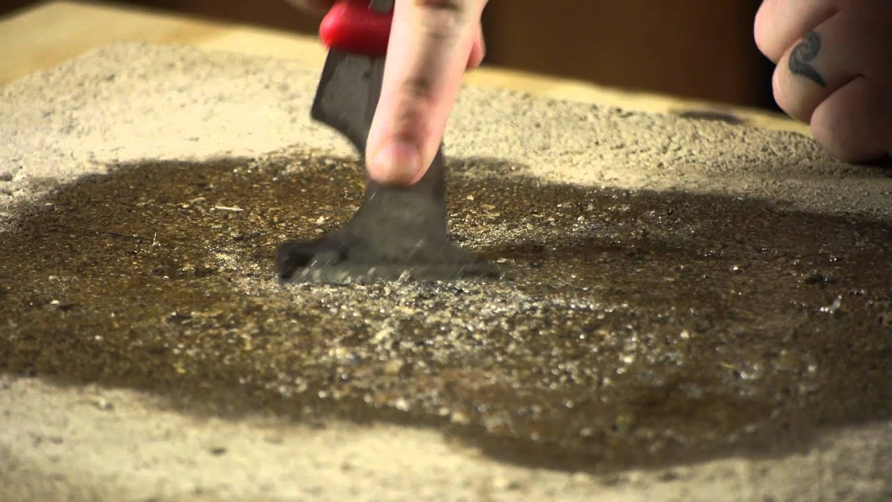 How to get adhesive off concrete from linoleum tiles working on how to get adhesive off concrete from linoleum tiles working on flooring youtube dailygadgetfo Choice Image