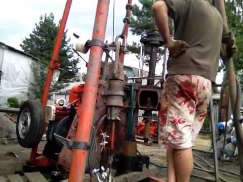 Обсадка ствола скважины стальной трубой d=133