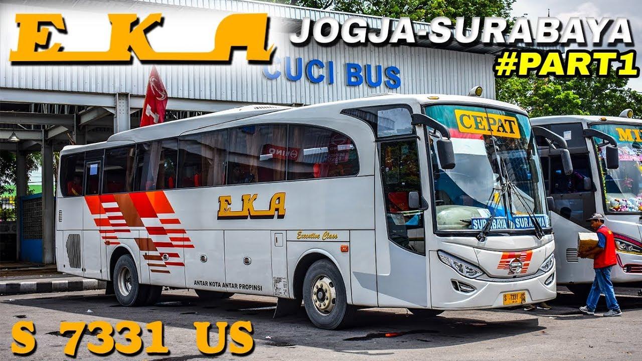 S 7331 Us Trip Bus Eka Cepat Jogja Surabaya Part1