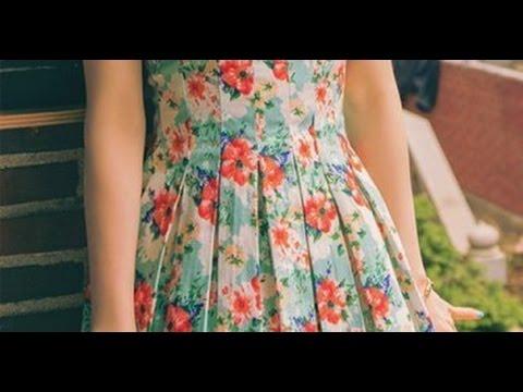 how to make box pleated dress tutorial english subtitles