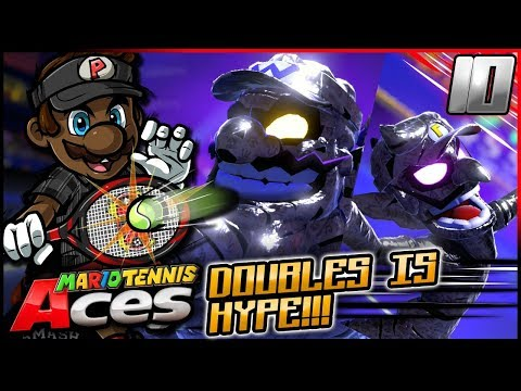 WUN V WUN VERSUS WEEGEE! | Mario Tennis Aces w/ @PKSparkxx! - Part 10 [Marina Stadium]