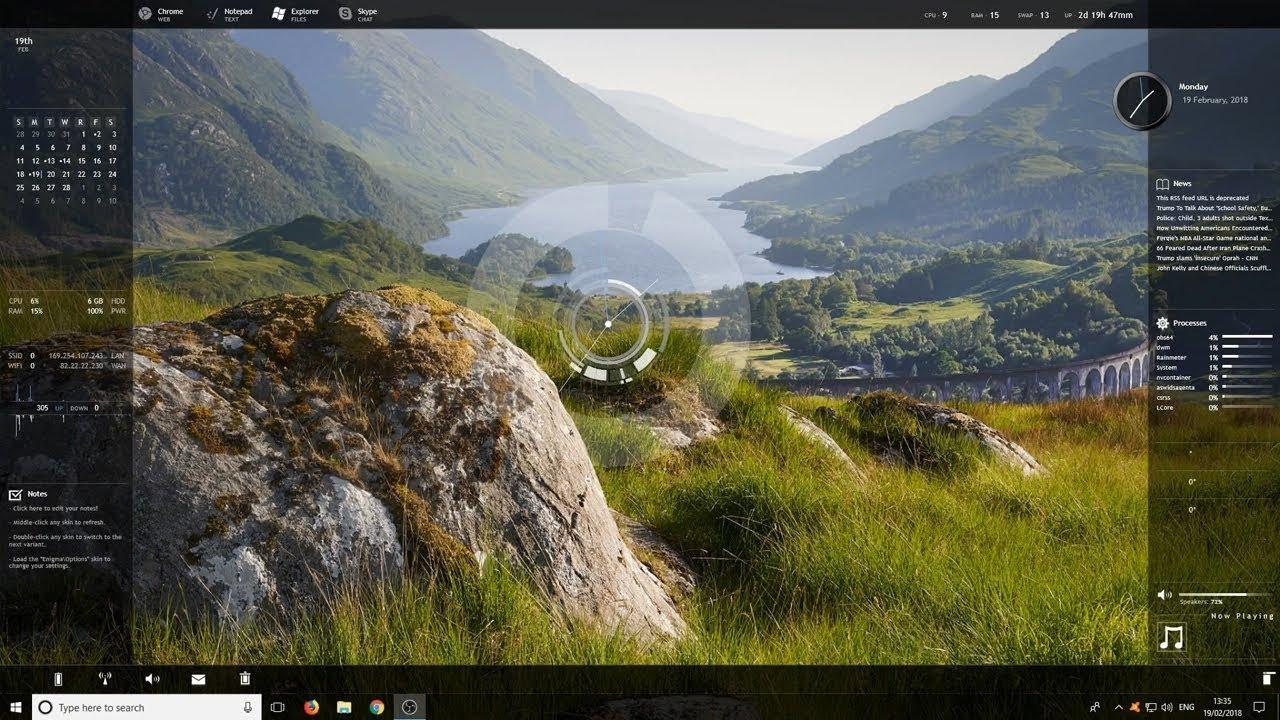 Make Windows 10 Look Great Enigma Theme | Customize Windows Desktop 2018
