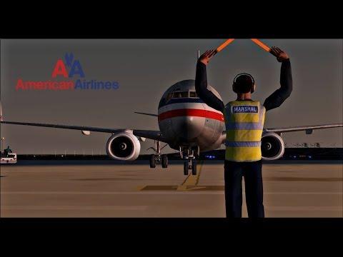 FSX American Airlines B737-800 Landing in Grenada