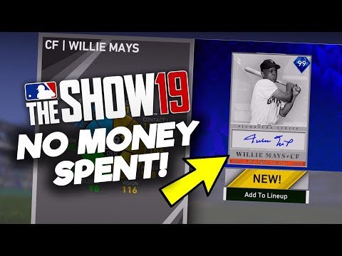 ALL COLLECTIONS COMPLETED! WILLIE MAYS UNLOCKED! No Money Spent #18! MLB The Show 19 Diamond Dynasty