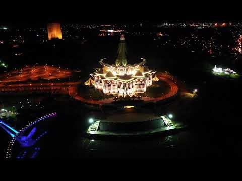 Sarawak Kuching Waterfront Night View