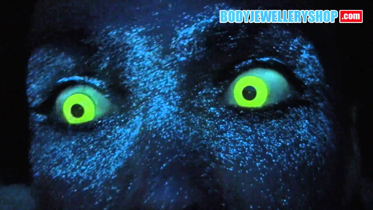 Yellow Rave / Glow Contact Lenses - YouTube