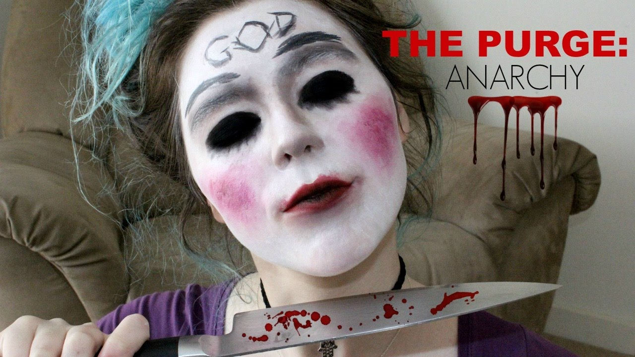 THE PURGE ANARCHY MASK | EASY HALLOWEEN MAKEUP TUTORIAL ...