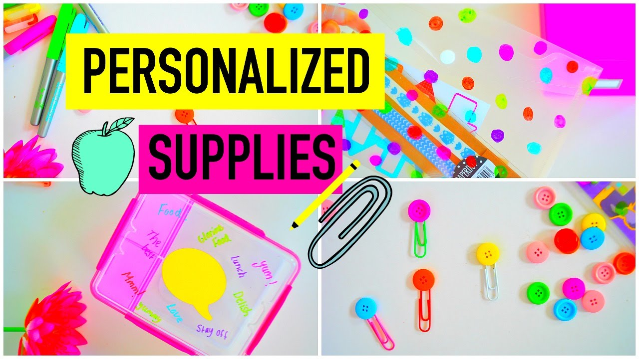 Diy Personalized School Supplies How To Turn Your Boring