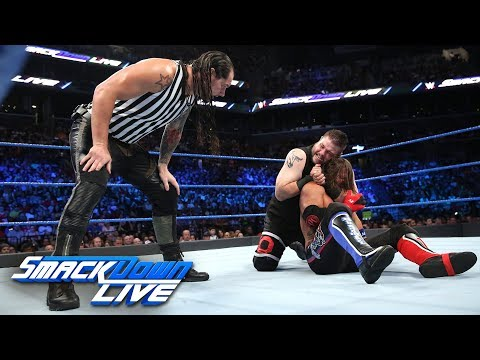 Styles vs. Owens - U.S. Title Match w/ Special Guest Ref Baron Corbin: SmackDown LIVE, Aug. 22, 2017