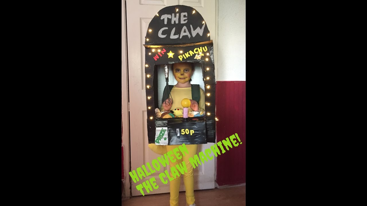 Make your own halloween claw machine costume youtube for Make your own halloween mask online