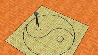 Compass drawing Yin-Yang