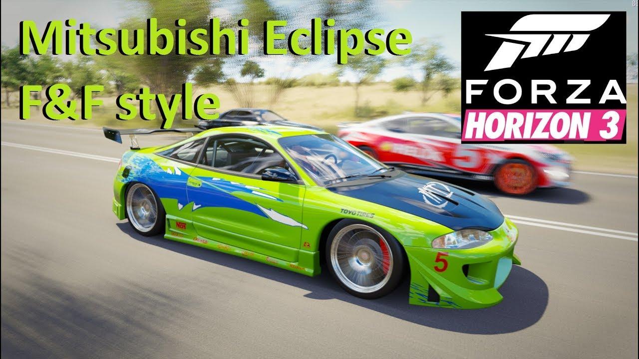 mitsubishi eclipse fast and furious engine. mitsubishi eclipse u0027fast and furiousu0027 style forza horizon 3 fast furious engine