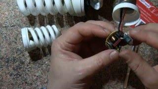 Энергосберегающие лампочки Белсвет обзор и разборка