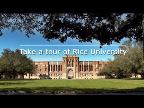 Take a tour of Rice University (2013 Edition)