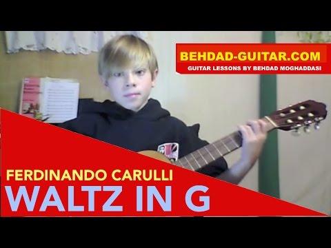 FERDINANDO CARULLI: WALTZ IN G - Played by Nicholas Parente