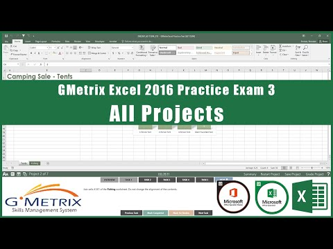 GMetrix Excel 2016 Practice Exam 2 - All Projects