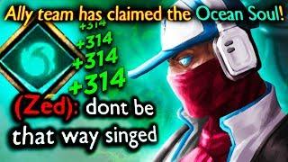 ocean soul + spell vamp Singed = perma fountain heals!?