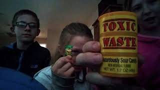 First time eating toxic waste challenge