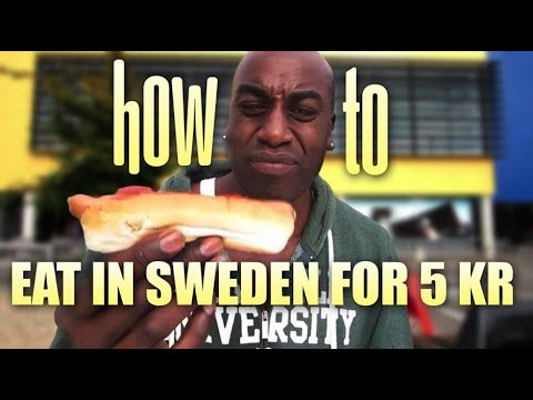 How to eat in Sweden for 50 cent. (5 s.e.k.)( 35,pence)