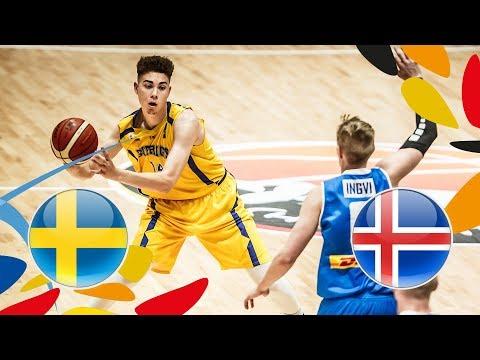 Sweden v Iceland - Full Game - FIBA U20 European Championship 2018