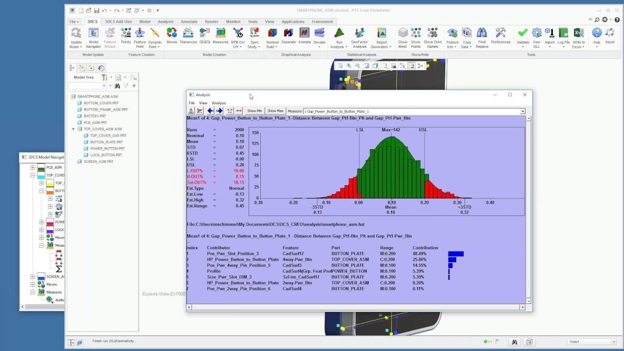 PTC Creo Integrated Tolerance Analysis   3DCS Variation