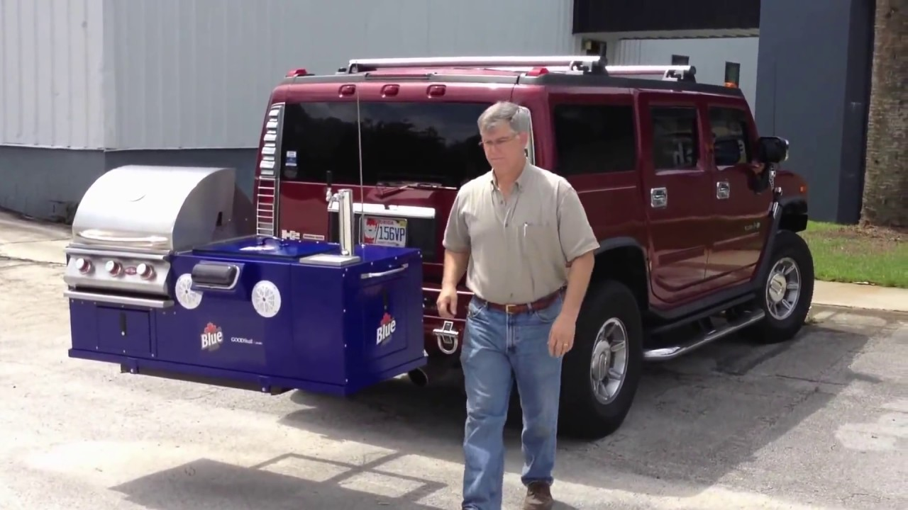 Tailgating Grill Hitch Mounted >> Ultimate Tailgating Grill - Stereo Cooler Draft Beer ...
