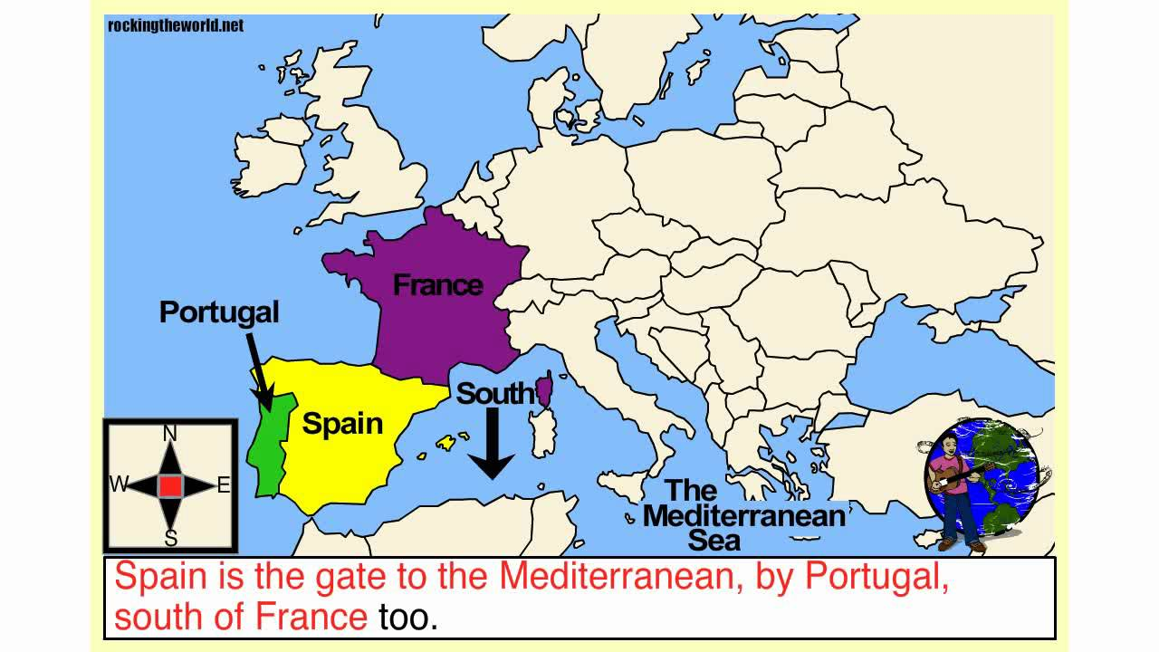 Western Europe Geography Song YouTube - Western european countries