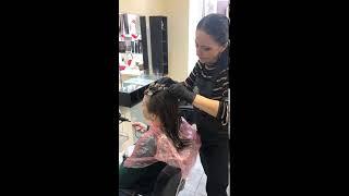 Биозавивка от Виктории салон красоты La Familia salon семейная парикмахерская Гагарина 11 Бровары
